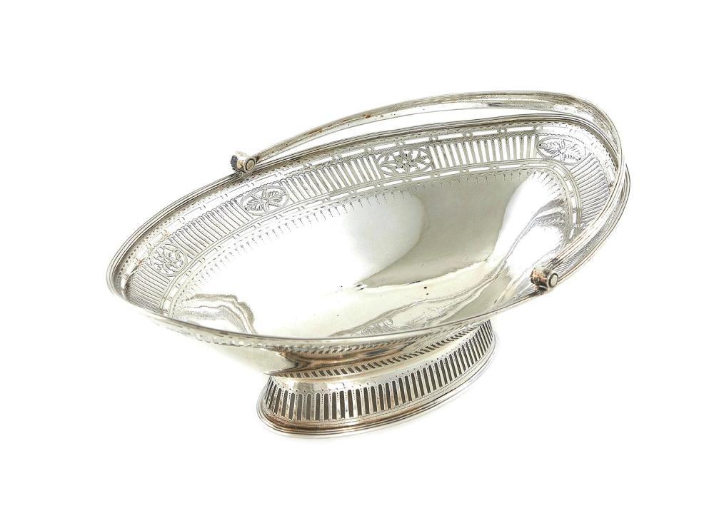 George III silver cake basket, William Frisbee