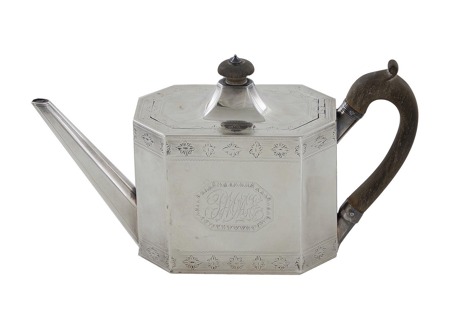 George III silver teapot, Henry Chawner