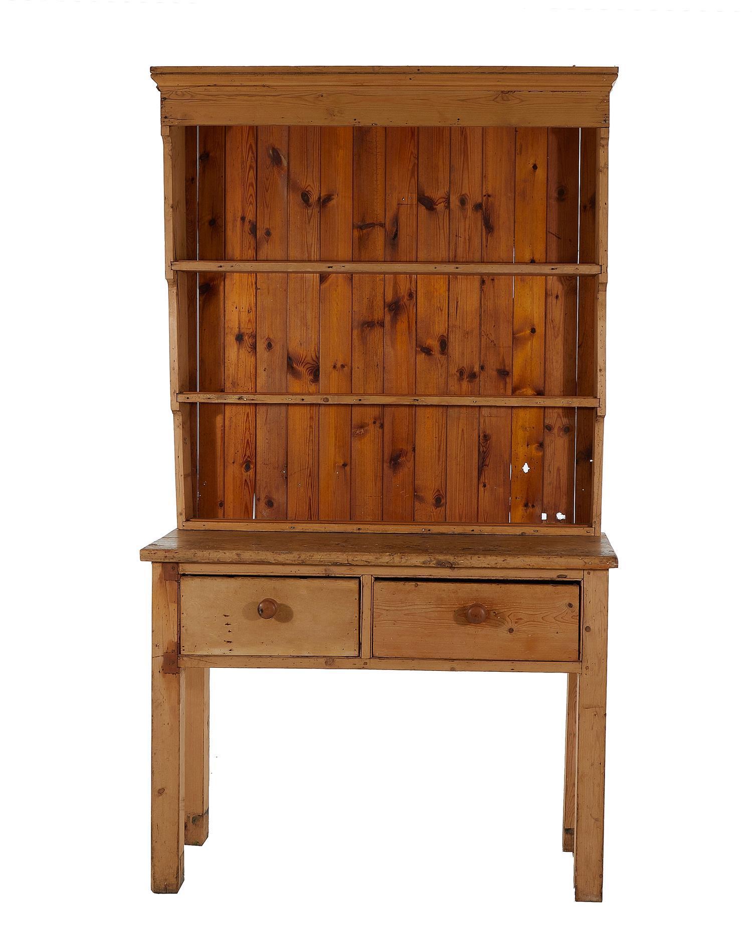 Victorian pine Welsh dresser