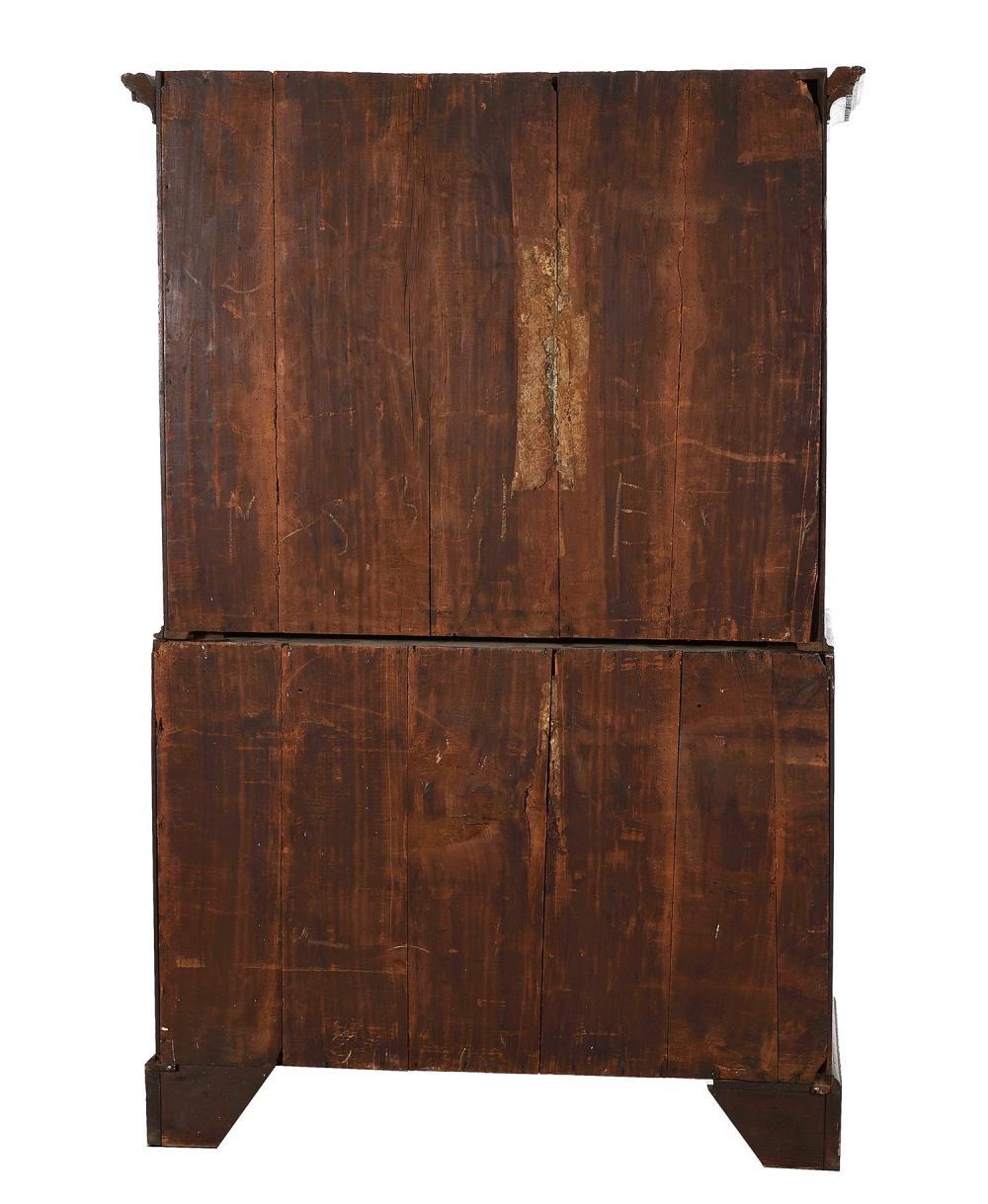 Georgian oak chest on chest