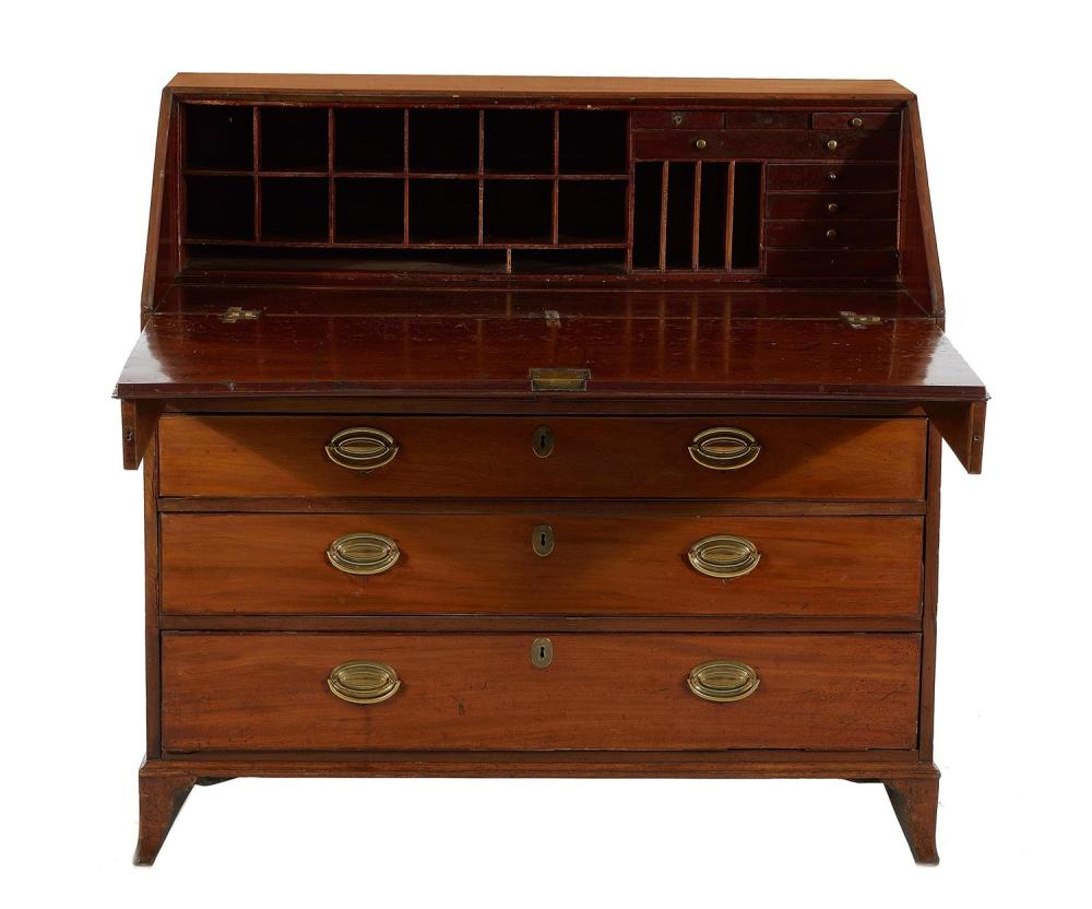Georgian mahogany slant-front desk