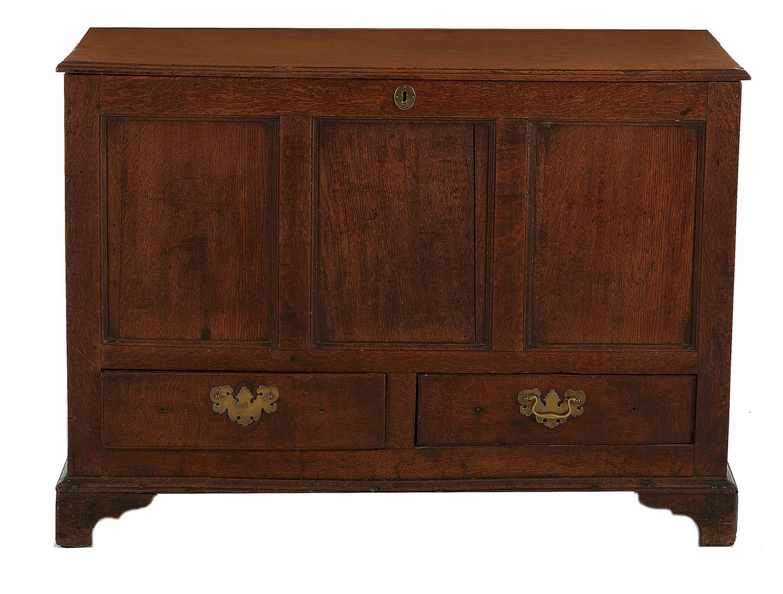 George III oak blanket chest