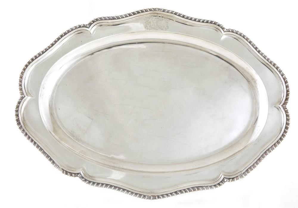 George II silver platter, Francis Butty & Nicholas Dumee