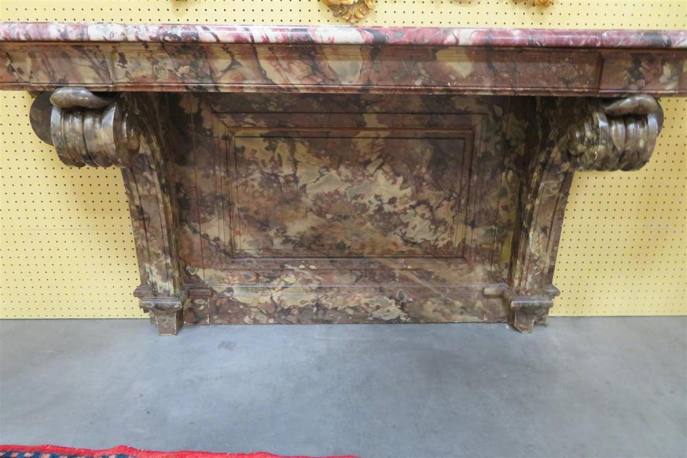 Renaissance Revival marble and faux marble console table