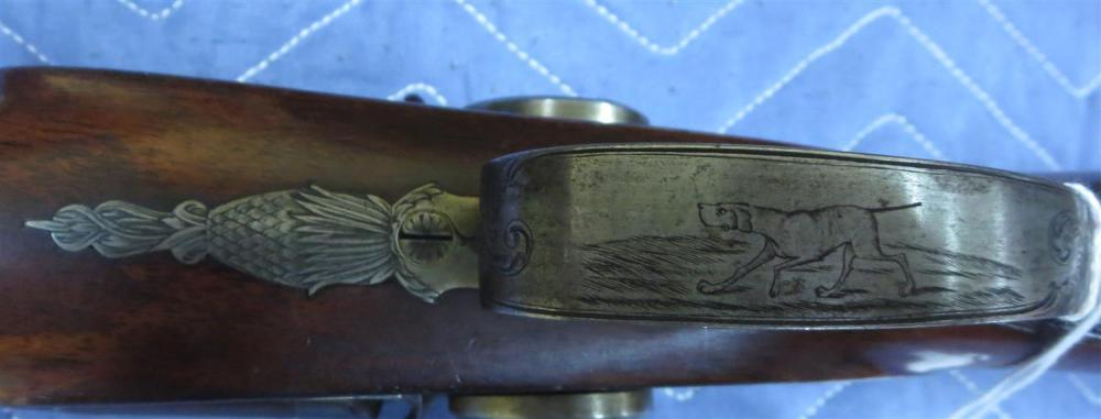 Very rare Radcliffe & Guignard 12GA SxS percussion shotgun
