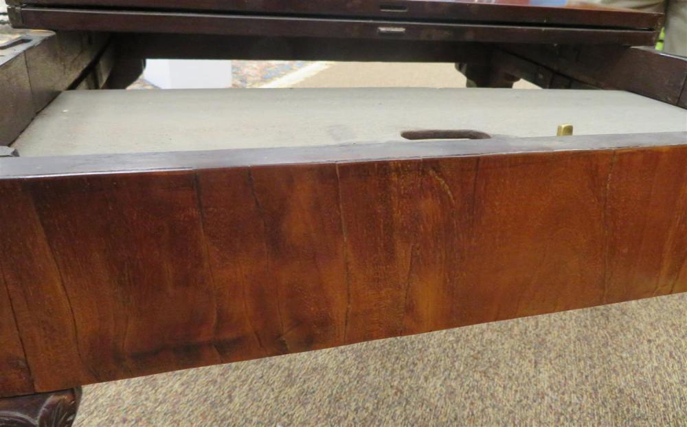 George III mahogany concertina-action games table