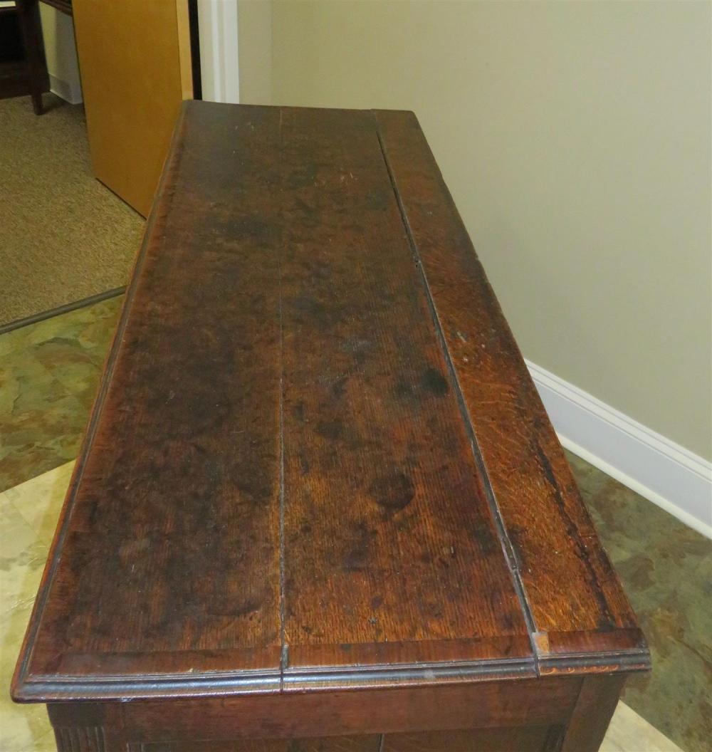 Georgian oak lift-top chest of drawers