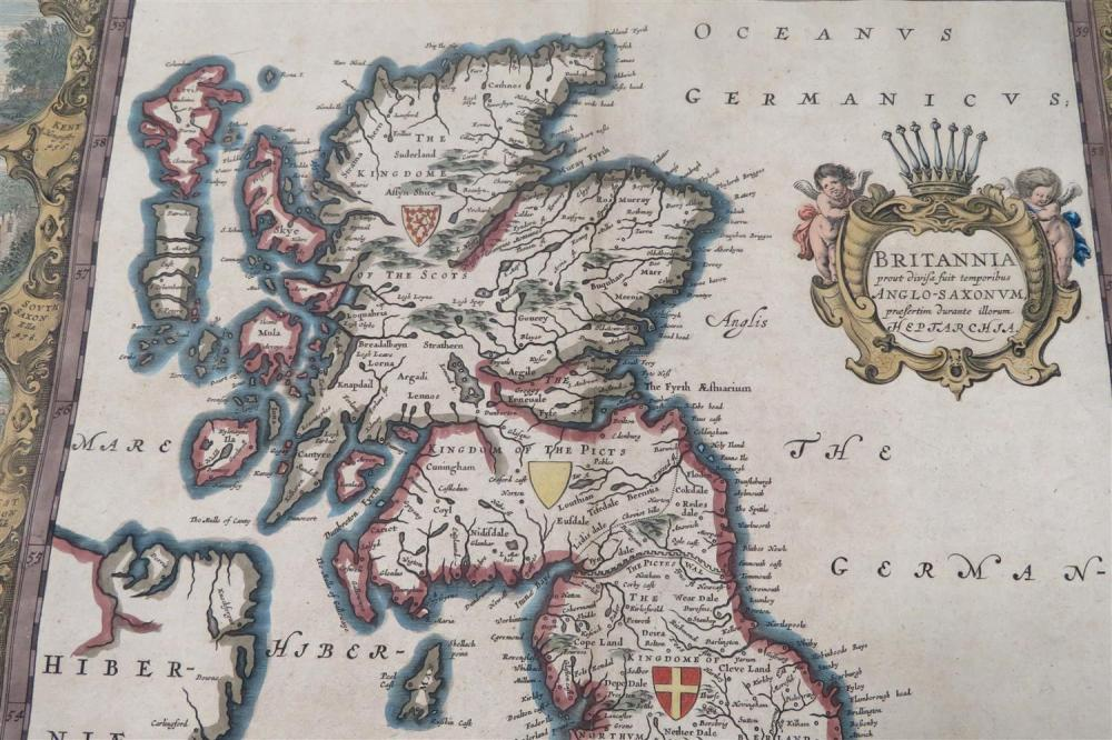 Great Britian map: by Blaeu, and Cornwall map: by Morton (2pcs)