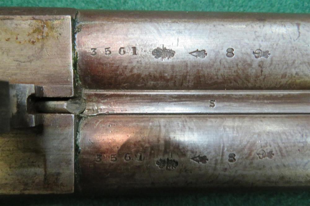James Beattie 8-bore SxS side-lock under-lever hammer gun