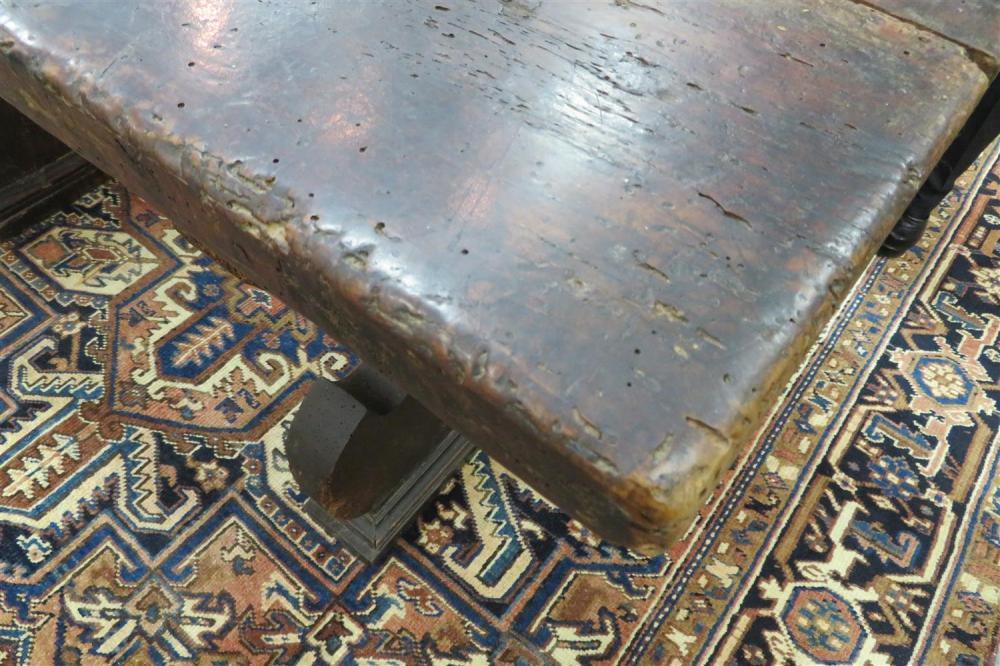 Spanish Baroque walnut trestle table