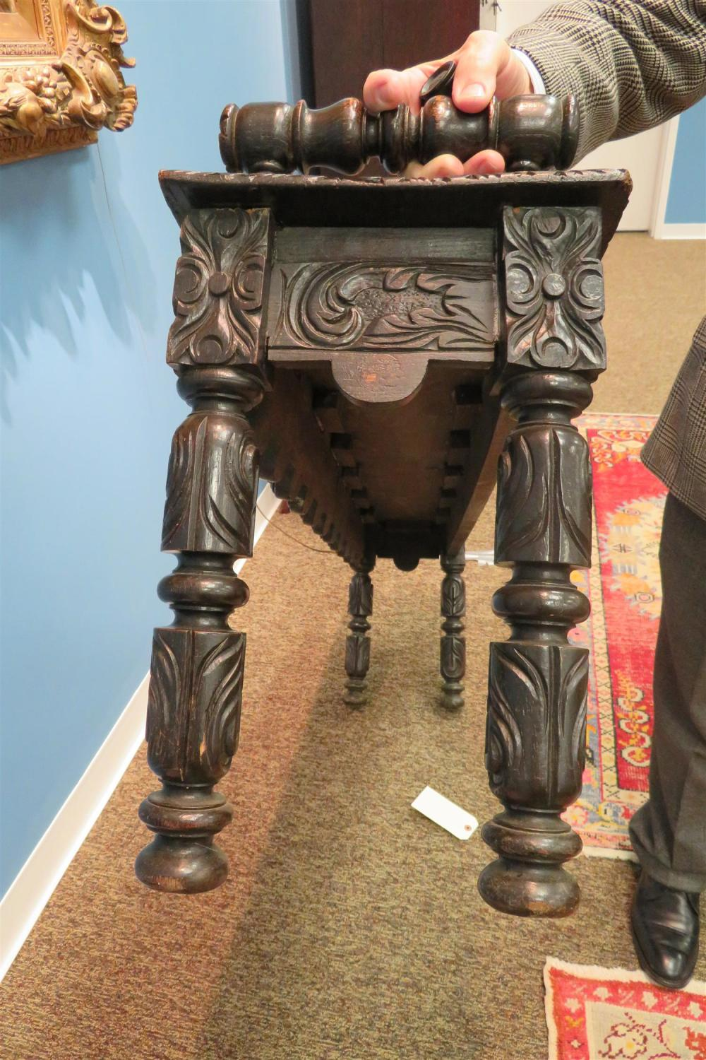 Continental carved oak bench
