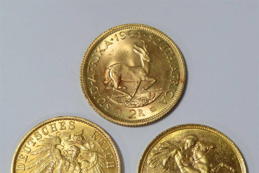 European and South African gold coins (5pcs)