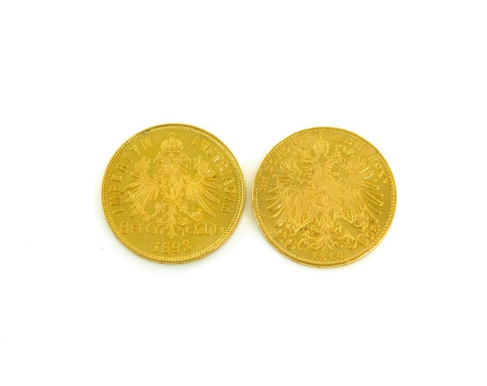 Austrian gold coins (2pcs)