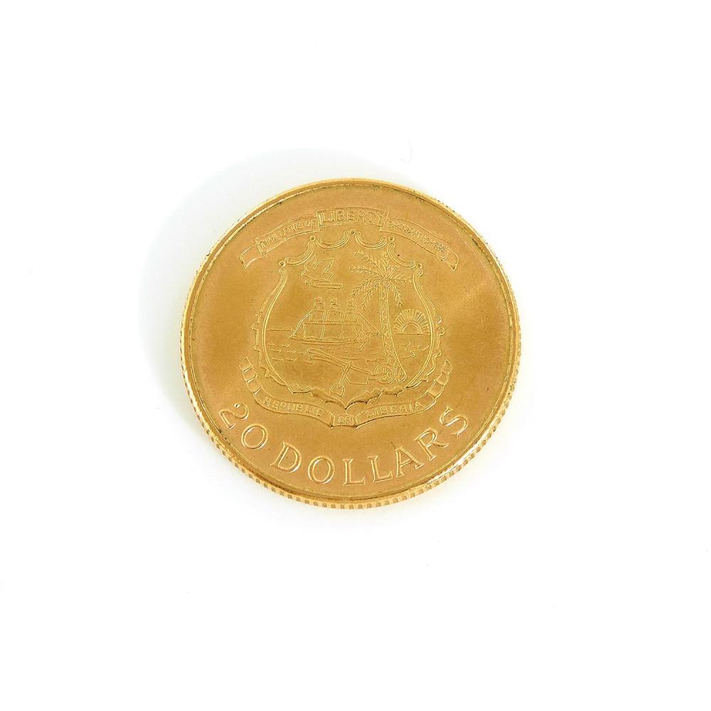 Liberian 20 Dollar gold coin