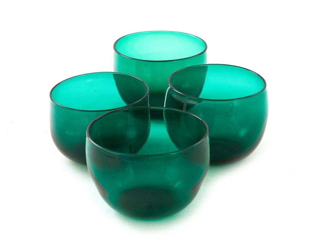 American blown-glass finger bowl set (12pcs)