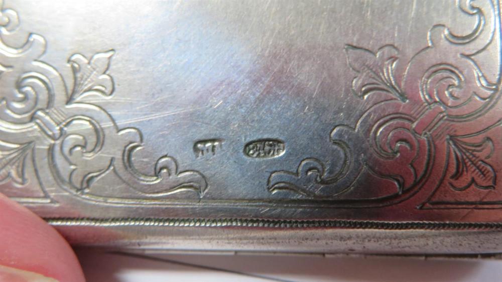 Russian silver case