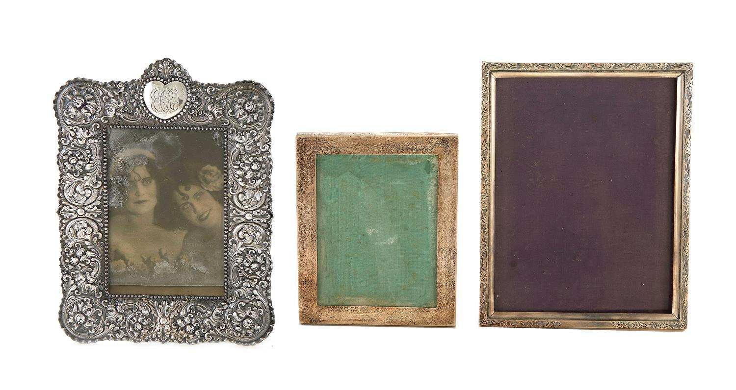 Sterling silver picture frames (3pcs)