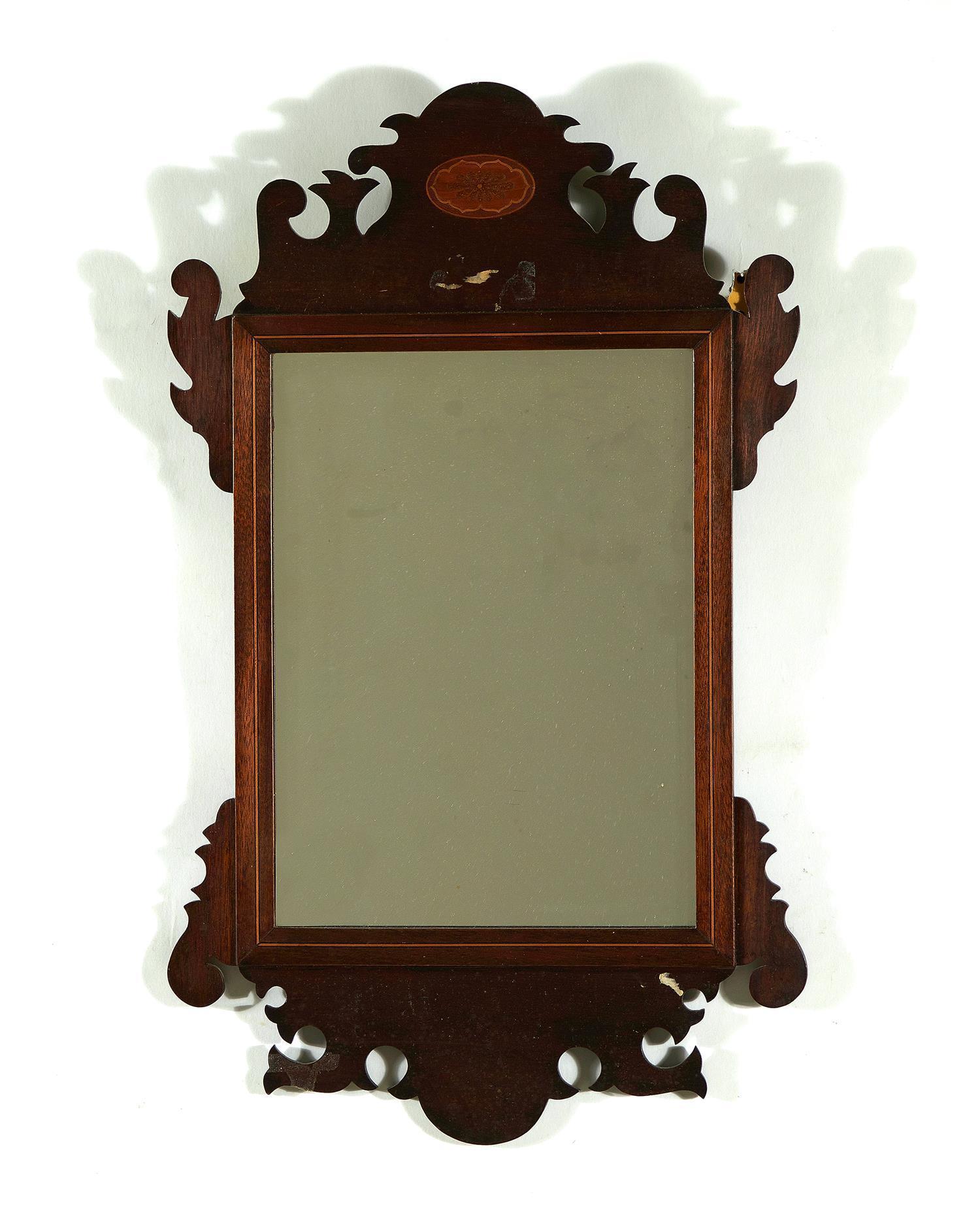 Georgian inlaid mahogany mirror