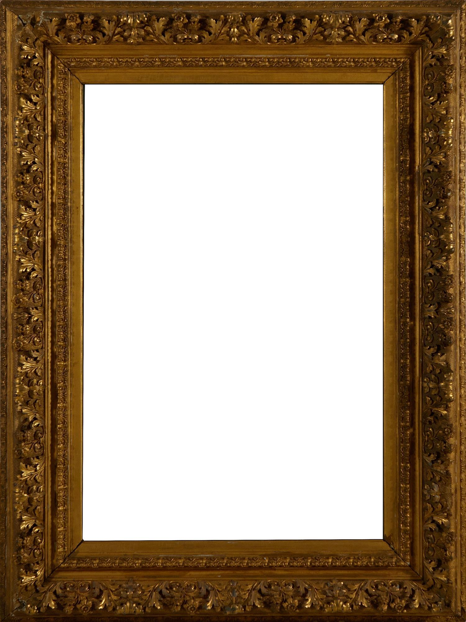 American carved giltwood and gesso mirror