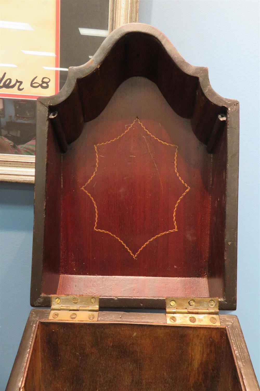 English inlaid mahogany knife box