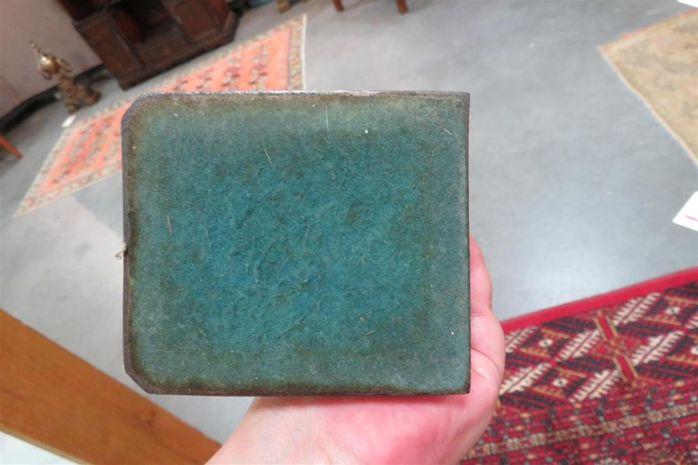 Pair Art Deco patinated copper figural bookends (2pcs)