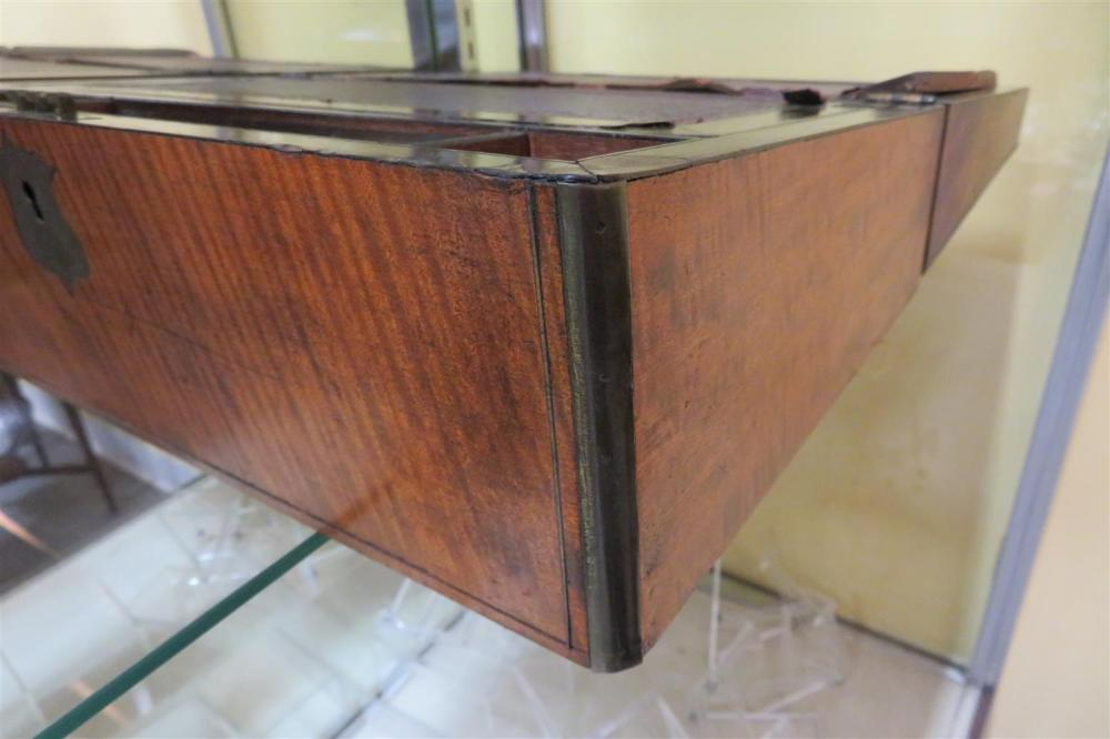 English brass-bound mahogany box, and other box (2pcs)