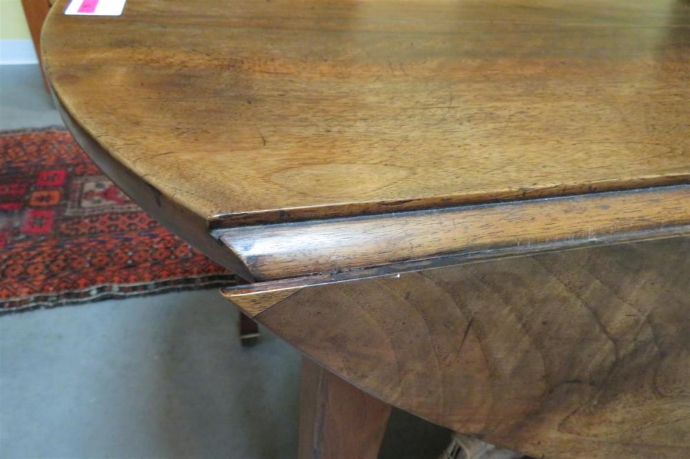 Continental mahogany drop-leaf table