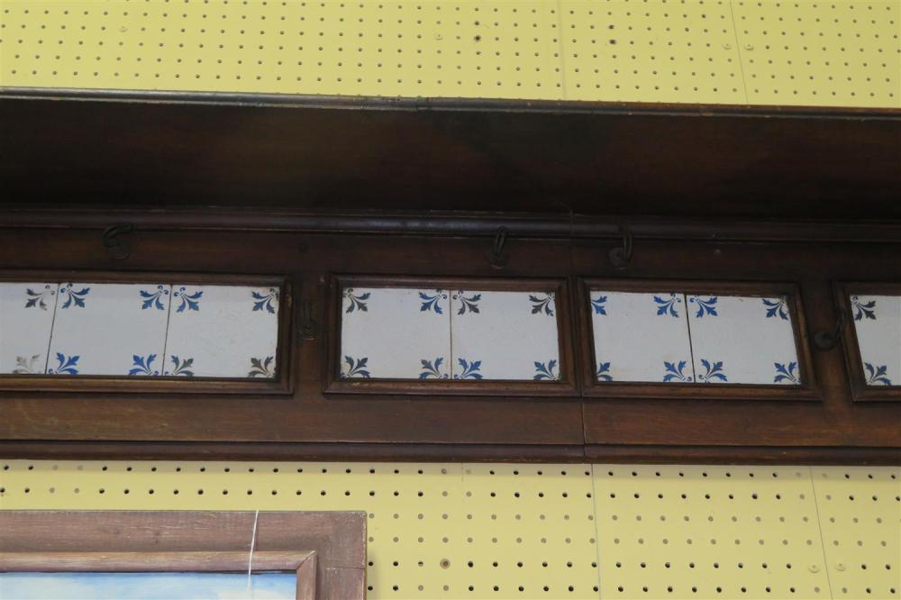 Continental mahogany and tile-panel shelf bracket