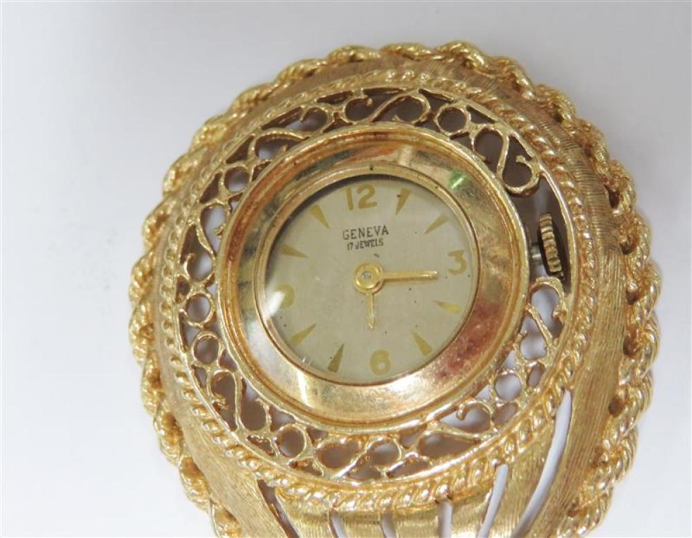 Gold openface pocket and lapel watches (3pcs)