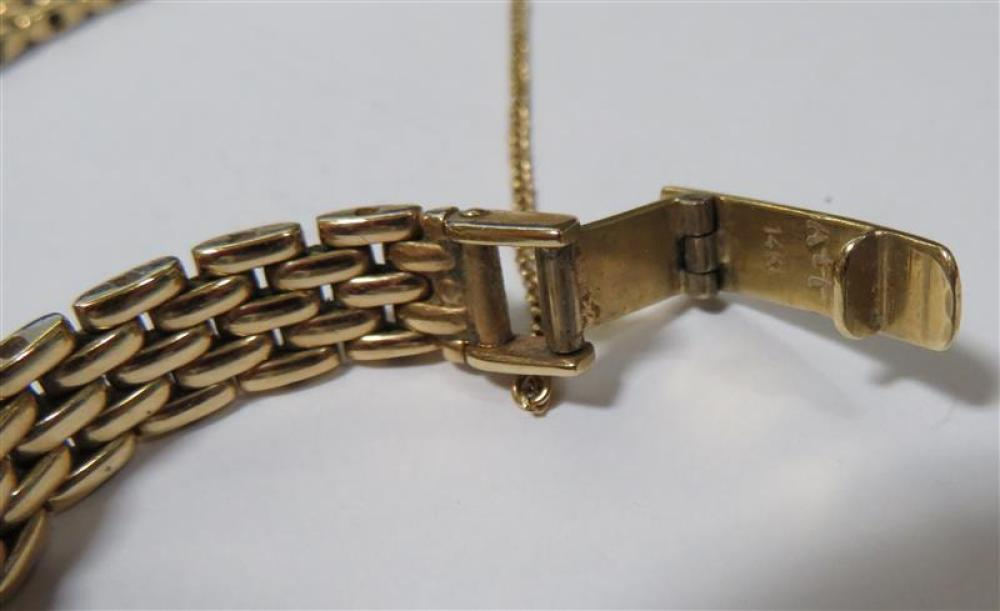 Diamond and gold wristwatch, retailed by Sylvan's