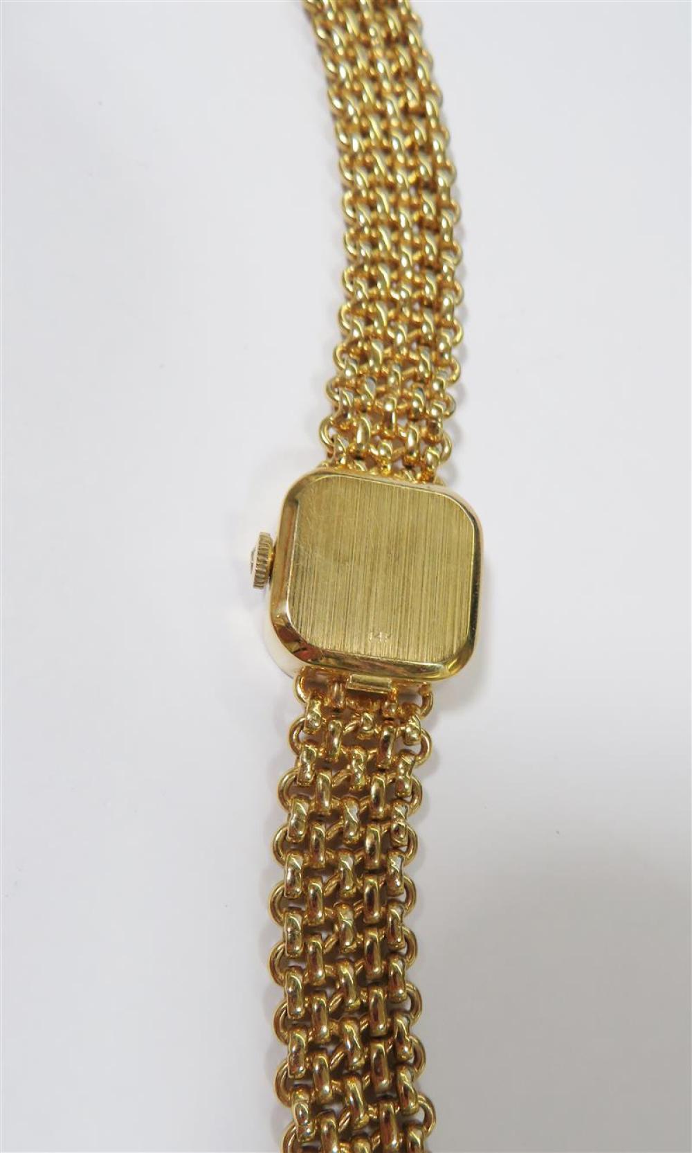 Omega gold bracelet wristwatch