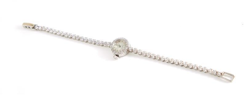 Vintage Croton diamond and gold bracelet watch