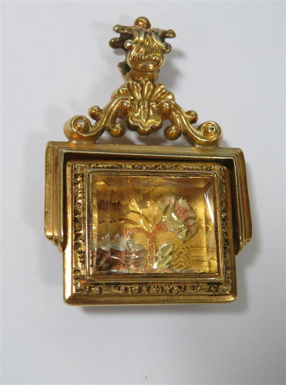 Victorian carnelian, crystal, and gold seal fob, of Southern interest