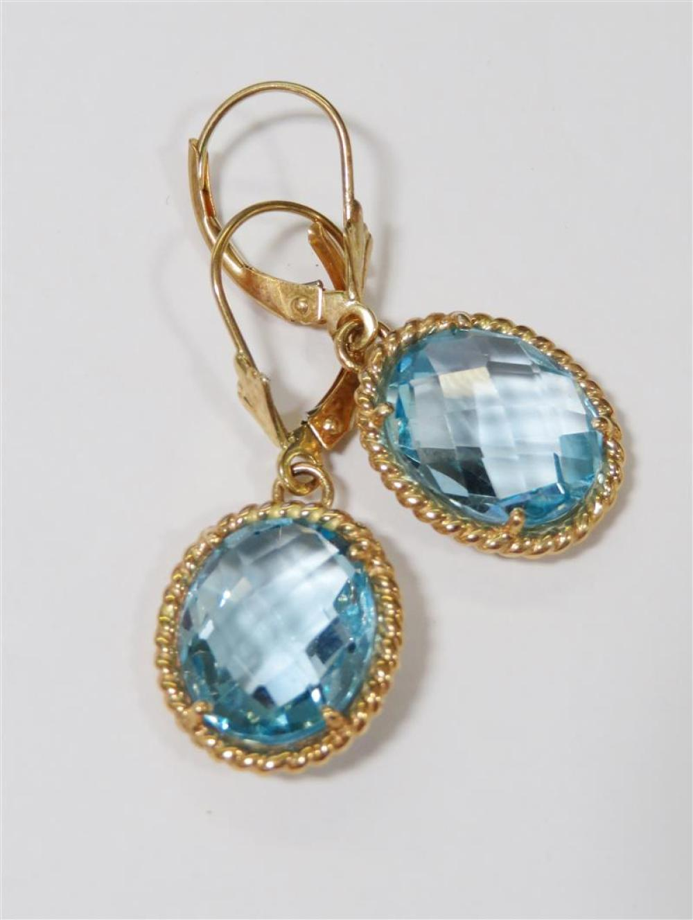 Gold and gemstone pierced earrings (14pcs)