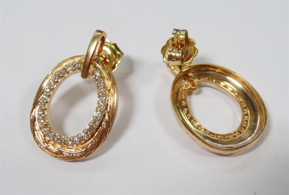 Gemstone and gold earrings (16pcs)