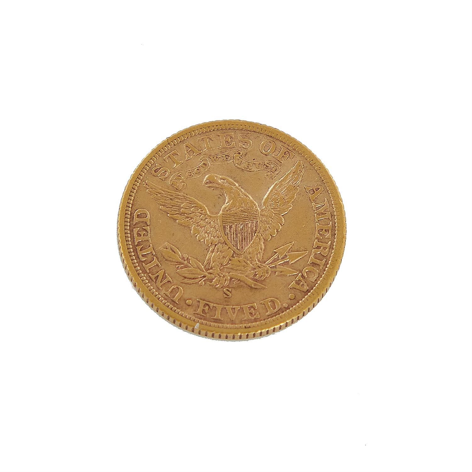 US $5 Liberty Head gold coin