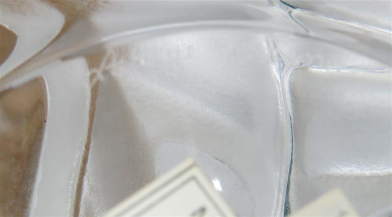 Lalique Barbade crystal centerbowl