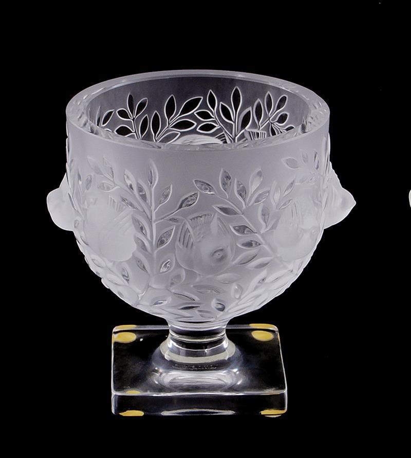 Lalique Elisabeth frosted crystal vase