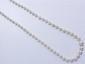 Collier composé d'un rang de perles de culture en chute d'environ 3.6 à 7 mm, agrémenté d'un fermoir à cliquet en or.. Poids brut: 13.70 g. Long: 55.5 cm.
