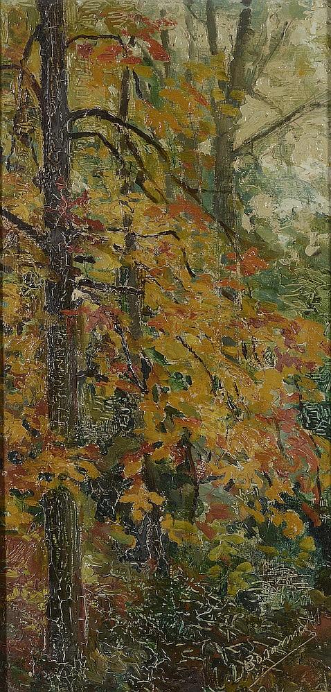 Louis BONAMICI (1878-1966)    Sous-bois