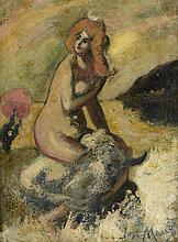 José MANGE (1866-1935) L'enlèvement d'Europe