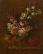 Ecole FRANCAISE du XIXème siècle. «Bouquet de fleurs». Toile. 40,5 x 32 cm. .