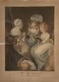 F.R Smith (d'après). «la visite chez la grand-mère». « la visite chez le grand père». Paire de gravures couleur gravées par Ward. (qq rousseurs dans les marges). 65 x 48.5 cm à vue