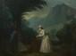 Attribué à Jean Frederic SCHALL. (1752 - 1825). Virginie secourant une esclave fugitive. Toile. 56 x 72 cm. . La scène de notre tableau est tirée du roman Paul et Virginie de Bernardin de Saint-Pierre publié en 1788, une vingtaine d'année après La