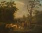Henricus Josephus ANTONISSEN. (Anvers 1737 - 1794). «Le repos du troupeau». Toile. 75,5 x 95 cm. Signé et daté en bas vers la gauche H J. Antonissen F: à Anvers 1786.. Expert: R. MILLET.