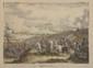 Martinet (d'après). «la bataille de la Moskova». Gravure couleur. 33 x 40 cm à vue. On y joint:. Philippoteaux (d'après). «Napoléon se rendant à bord du Bellérophon». Gravure noir et blanc. 10 x 14 à vue«