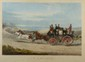 J. W Shayer (d'après). «Up Hille Springing' em». Gravure couleur. 57 x 77 à vue