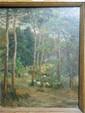 Julien CALVE. (Lormont 1851-Bordeaux 1924). «Paysage de forêt». Panneau (A. Grézy). 40 x 31,5 cm. Signé et daté en bas à gauche Julien Calvé 82. Expert: R. MILLET