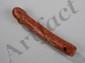 Amulette phallique en pierre rouge. Thaïlande. Ancienne.