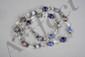 Collier recomposé selon la tradition de perles de pate de verre de Venise, cristal de roche et métal argenté. Inde. Tribu Banjarat du désert du thar.